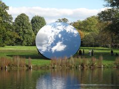 Sky Mirror by Anish Kapoor. Exhibitions: Anish Kapoor: Sky Mirror at Rockefeller Plaza; Landscape Art, Landscape Design, Anish Kapoor, Artistic Installation, Light Installation, Reflection Photography, Design Graphique, Abstract Images, Environmental Art