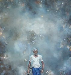 Adrienne Silva - Painter: The Stars and You  *oil on canvas*  95 x 85 cm