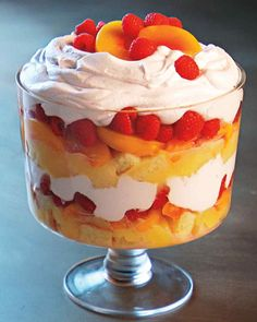 Using store-bought pound cake and lemon curd for this dish is a guaranteed time-saver. This trifle can be prepared in advance and stored in the refrigerator until it's ready to be served.