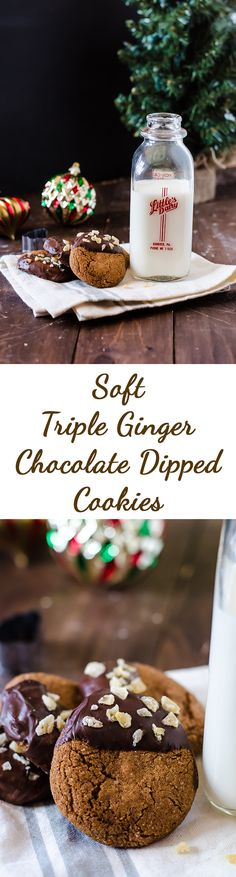 These soft and chewy triple ginger spice cookies are a delicious classic that must be on your holiday plate! These Christmas cookies are the perfect treat