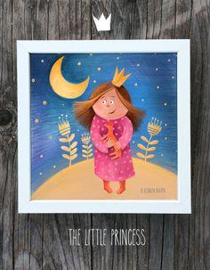 """The Little Princesse"".Wall Illustration."