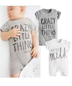 We are delighted to present our newest collection of goodies.   Like and Tag if you like this Unisex Romper (Crazy Little Thing / Powered By Milk).  Tag a friend who would appreciate our awesome range of infant clothes! FREE Shipping Worldwide.  Why wait? Buy it here---> https://www.babywear.sg/summer-style-baby-boy-romper-newborn-baby-clothes-pajamas-new-born-baby-girl-clothing-children-toddlers-rompers/   Dress up your infant in fabulous clothes today!    #babyjackets