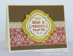 Julie's Stamping Spot -- Stampin' Up! Project Ideas Posted Daily: Sketch Book Favorites: Forever with You Card