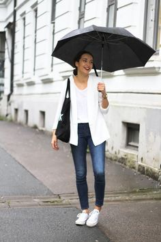 White blazer and converse #simplelook