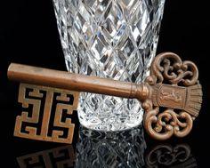 Vintage Copper Key Corkscrew, Skeleton Key Cap Lifter, Bottle Opener, German Wine Opener, Copper Corkscrew, Tire Bouchon