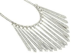 Silver Crystal Icicles Necklace from Helen's Jewels #jewelry #necklace #jewelryonpinterest #helensjewels #fashion #style #accessories #statementnecklace #glamorous #jewels #silver #crystals