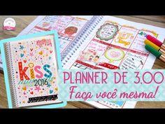 Como fazer um PLANNER DE 3,00 Gastando pouco ♥ - Scrapbook by Tamy - YouTube