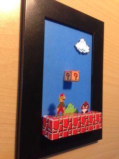 Cuadros 3d Mario Bros Caseros
