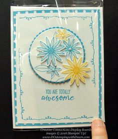 Grateful Bunch Creative Connections display cards shared by Dawn Olchefske #dostamping #stampinup