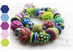 colorful necklace beads