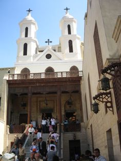 Saint Virgin Mary's Coptic Orthodox Church, also known as the Hanging Church, is one of the oldest churches in Egypt. Mosques, Cathedrals, Ukraine, Find Icons, Cathedral Church, France, Old Buildings, Throughout The World, Bible Studies