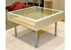 simple coffee table with glass top - Google Search