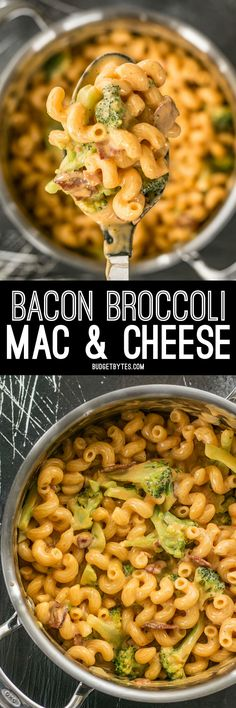 This One Pot Bacon Broccoli Mac and Cheese is fast, easy, and absolutely fool proof. This sauce stays smooth and creamy! BudgetBytes.com