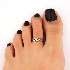 toe ring sterling silver toe ring Celtic knot by Silversmith925, $11.00