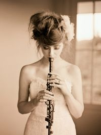 So, it looks like somebody took a flute, slapped some clarinet keys on there and then decided to add a trumpet mouthpiece. But its beautiful! Messy Hairstyles, Wedding Hairstyles, Elizabeth Messina, Band Nerd, Music Photo, World Music, Music Lovers, Groom, Wedding Inspiration