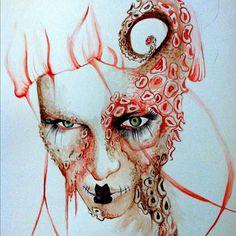 Daphne Guinness Dark Queen with Octopus Mask. by ragdoll7101 on deviantART