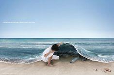 Junte cada pedacinho e deixe o mar limpo.