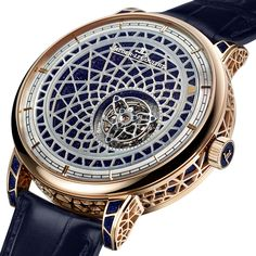 Jaeger-LeCoultre's Hybris Artistica Mystérieuse tourbillons – including both men's and ladies' versions – are uniquely indifferent to the display of time. Neither watch uses hands to indicate hours and minutes. Instead, the tourbillon carriage and the decorated dials are the focus.