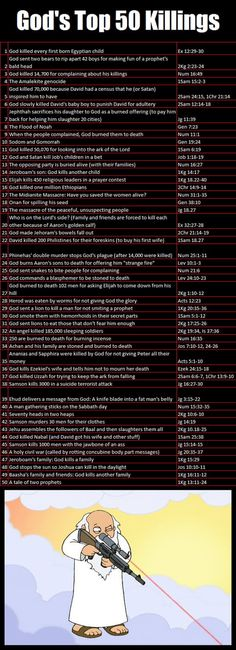God's killings in the Bible