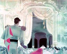 Concept art from the 1950 Disney film, 'Cinderella'