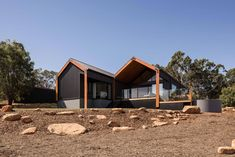 Lurie Concepts specialises in designing bespoke environmentally-friendly homes and renovations for clients throughout the South West and Perth. House Cladding, Facade House, Modern Barn House, Modern House Design, Shed Building Plans, Building A House, Sustainable Building Design, Modern Farmhouse Exterior, Shed Homes