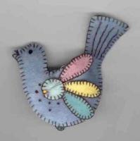 cute birdie pincushion @stitchersworkshop