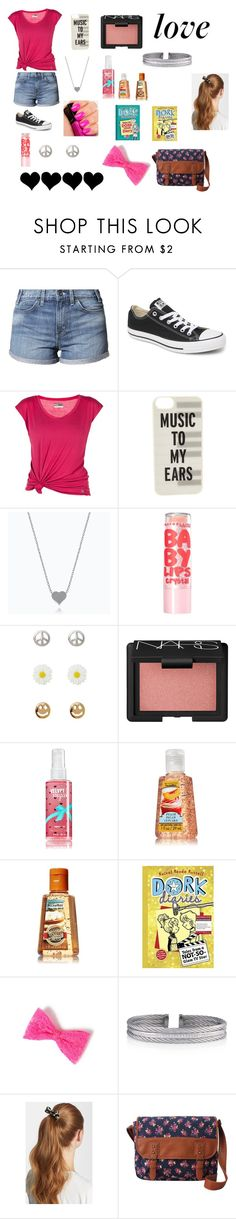 """""""Adorkable!!!!"""" by sjw19085 ❤ liked on Polyvore featuring Levi's, Converse, Lija, Kate Spade, Illamasqua, Maybelline, Alexia Crawford, NARS Cosmetics, Charriol and L. Erickson"""