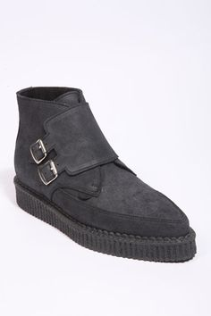 Underground Shoes For UO Black Nubuck Boots