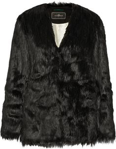 $695, By Malene Birger Zannaz Faux Fur Coat. Sold by NET-A-PORTER.COM. Click for more info: https://lookastic.com/women/shop_items/102987/redirect