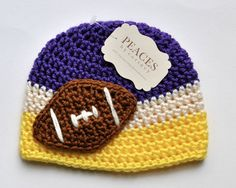 Hey, I found this really awesome Etsy listing at http://www.etsy.com/listing/154023870/baby-football-hats-minnesota-vikings