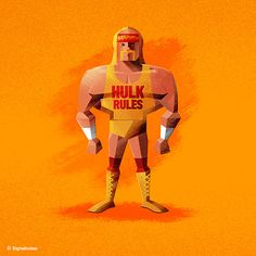 Hulk Hogan WWE Superstar Illustration by James White
