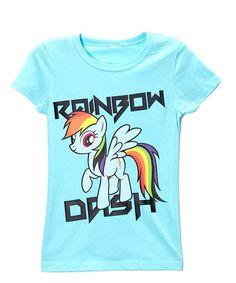 This My Little Pony Rainbow Dash Cancun Blue Tee - Girls is perfect! #zulilyfinds