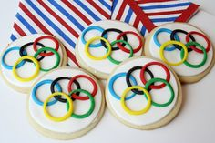Olympic ring cookies—so festive!