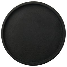Concrete Round Tray - Black | LET LIV