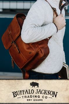 Amazing collection of leather and canvas backpacks. Impressive quality and attention to detail. Made with premium leather or the most durable of canvases, with plenty of room for all your work, sport, or travel products. Fill it with all you need for work or a day's travel. #mensbags #mensfashionrugged #backpacksforgrownups Leather Men, Leather Bags, Leather Gifts, Best Bridesmaid Gifts, Casual Professional, Waxed Canvas Bag, Canvas Backpacks, Rugged Men, Best Gifts For Men