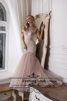 Prom light pink lace dress. Ideal for a girl like want to look like a sexy princess to her bal.