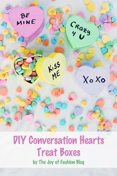 DIY Conversation Hearts Treat Boxes