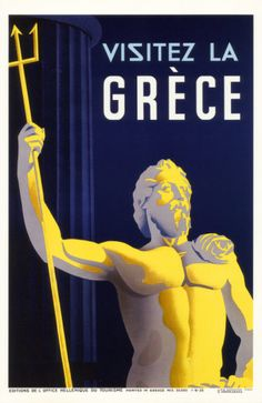 Greek Travel Ads (Vintage Art) Posters, Prints, Paintings & Wall Art for Sale Poster Ads, Sale Poster, Poster Prints, Vintage Travel Posters, Vintage Ads, Old Posters, Travel Ads, Wanderlust, Mykonos
