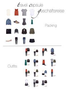Travel Capsule - Business Trip  Geschäftsreise nur mit Handgepäck; Packliste und Outfits