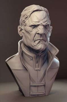 """Is this some kind of bust?"" - my zbrush works Zbrush Character, Character Modeling, 3d Character, Character Design, Tutorial Zbrush, Zbrush Models, Sculpture Head, Digital Sculpting, Modelos 3d"