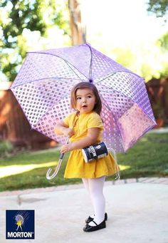 As incredible as those costumes were, Willow somehow topped them last year. She became the Morton Salt Girl…