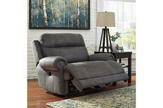 Gray Austere Oversized Recliner View 1