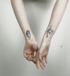 Small Realistic Owl Tattoos | Owl & Wolf Tattoo