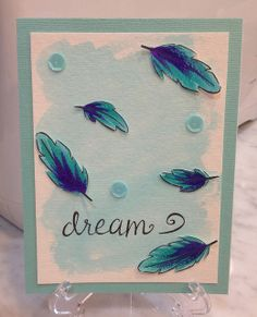 Lawn Fawn - Dream _ beautiful card with a watercolor background by Lisa via Flickr - Photo Sharing!