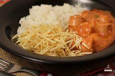 strogonoff de salsicha vegetal #vegetariano #vegano