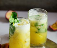 This refreshing mojito cocktail recipe with pineapple and passion fruit is perfect for summer!