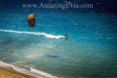 Kite surfing in Marmari, Evia.