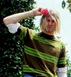 """""""I knew I was different. I thought that I might be gay or something because I couldn't identify with any of the guys at all. None of them liked art or music. They just wanted to fight and get laid. It was many years ago but it gave me this real hatred for the average American macho male"""" -Kurt Cobain"""