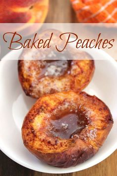 Are you looking for peach dessert recipes that are quick and easy to make while still delicious? If so, you'll love this Baked Peaches recipe. Warm, gooey and bursting with peach flavor, this is one peach recipe you'll want to [. Mini Desserts, Summer Dessert Recipes, Fruit Recipes, Easy Desserts, Fall Recipes, Delicious Desserts, Cooking Recipes, Yummy Food, Nutella Recipes