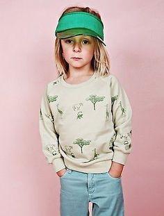 New Mini Rodini Boy / Girl Safari Sweatshirt Green size 8-9 years 128-134 | £20.00